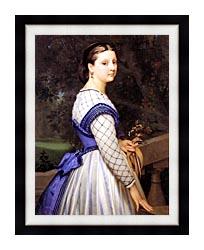 William Bouguereau The Countess De Montholon canvas with modern black frame