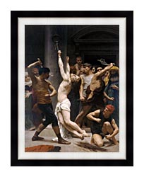 William Bouguereau The Flagellation Of Christ canvas with modern black frame