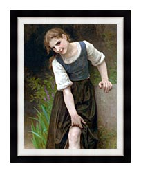 William Bouguereau The Ford canvas with modern black frame