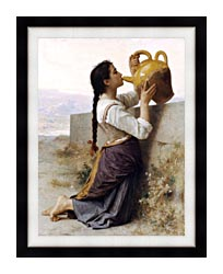 William Bouguereau Thirst canvas with modern black frame