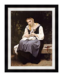 William Bouguereau Young Worker canvas with modern black frame