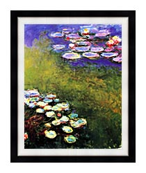 Claude Monet Monet Water Lilies canvas with modern black frame