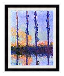 Claude Monet The Poplars canvas with modern black frame