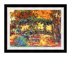 Claude Monet The Japanese Footbridge canvas with modern black frame