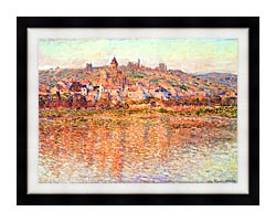 Claude Monet Vetheuil In Summertime canvas with modern black frame