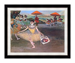 Edgar Degas Ballerina With A Bouquet Of Flowers canvas with modern black frame