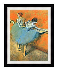 Edgar Degas Dancers At The Barre canvas with modern black frame
