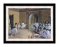 Edgar Degas Dance Foyer At The Opera In The Rue Le Peletier canvas with modern black frame