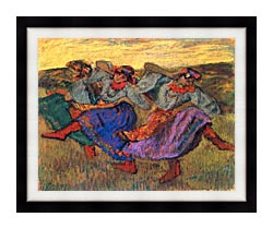 Edgar Degas Russian Dancers canvas with modern black frame