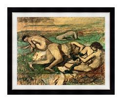 Edgar Degas The Bathers canvas with modern black frame