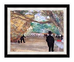Edgar Degas The Curtain canvas with modern black frame