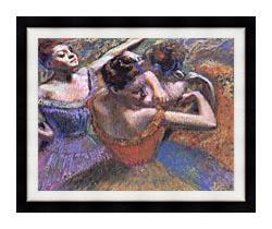 Edgar Degas The Dancers canvas with modern black frame