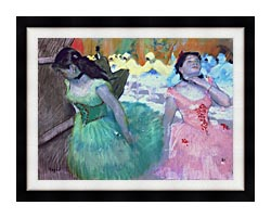 Edgar Degas The Entry Of The Masked Dancers canvas with modern black frame