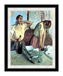 Edgar Degas The Ironers canvas with modern black frame