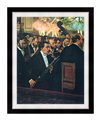 Edgar Degas The Orchestra Of The Opera canvas with modern black frame