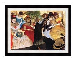 Edgar Degas Cafe Concert canvas with modern black frame