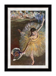 Edgar Degas Fin Darabesque canvas with modern black frame
