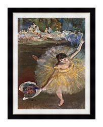 Edgar Degas Fin Darabesque Detail canvas with modern black frame
