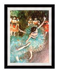 Edgar Degas The Green Dancer canvas with modern black frame