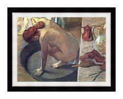 Edgar Degas Degas The Tub canvas with modern black frame