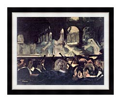 Edgar Degas Ballet Scene From Robert The Devil canvas with modern black frame