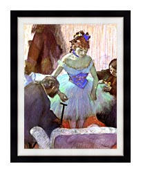 Edgar Degas Before The Entrance On Stage canvas with modern black frame