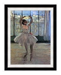 Edgar Degas Dancer Posing For A Photographer   Dancer Before A Window canvas with modern black frame