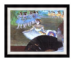 Edgar Degas Dancer With A Bouquet canvas with modern black frame