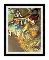 Edgar Degas Dancers canvas with modern black frame