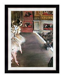 Edgar Degas Dancers At The Old Opera House canvas with modern black frame