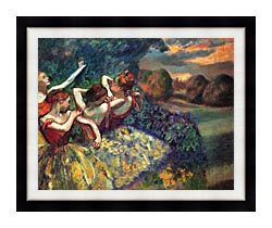 Edgar Degas Four Dancers canvas with modern black frame