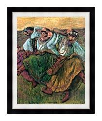 Edgar Degas Les Danseuses Russes canvas with modern black frame