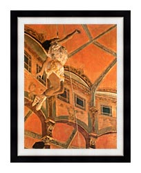 Edgar Degas Miss Lala At Cirque Fernando canvas with modern black frame