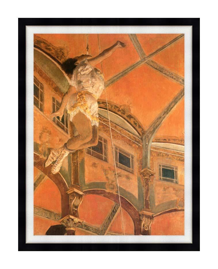 Edgar Degas Miss Lala at Cirque Fernando with Modern Black Frame