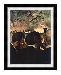 Edgar Degas Musicians In The Orchestra canvas with modern black frame