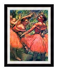 Edgar Degas Red Skirts canvas with modern black frame