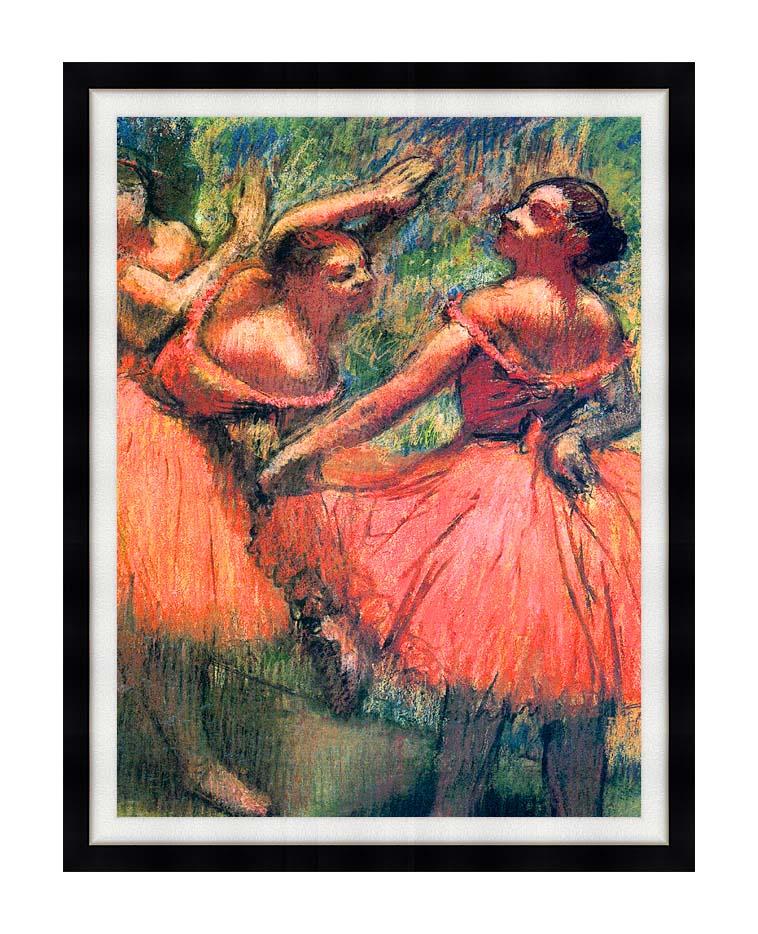 Edgar Degas Red Skirts with Modern Black Frame