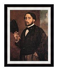 Edgar Degas Edgar Degas Self Portrait canvas with modern black frame