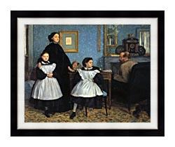 Edgar Degas The Bellelli Family canvas with modern black frame