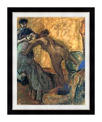Edgar Degas The Cup Of Chocolate canvas with modern black frame