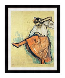 Edgar Degas The Russian Dancer canvas with modern black frame