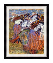 Edgar Degas The Russian Dancers canvas with modern black frame