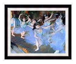 Edgar Degas The Star Dancers Detail canvas with modern black frame