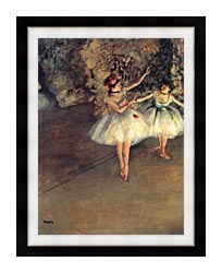 Edgar Degas Two Dancers On The Stage canvas with modern black frame
