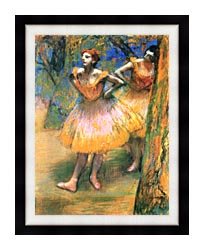 Edgar Degas Two Dancers canvas with modern black frame