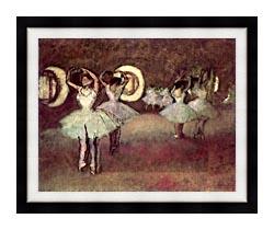 Edgar Degas Dancers In The Foyer canvas with modern black frame