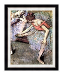 Edgar Degas Danseuses canvas with modern black frame