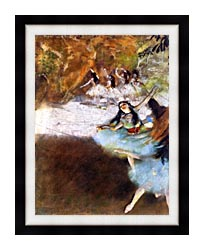 Edgar Degas Ballet On The Stage canvas with modern black frame