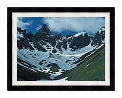 U S Fish And Wildlife Service Aghileen Pinnacles Lefthand Valley Wilderness Area canvas with modern black frame