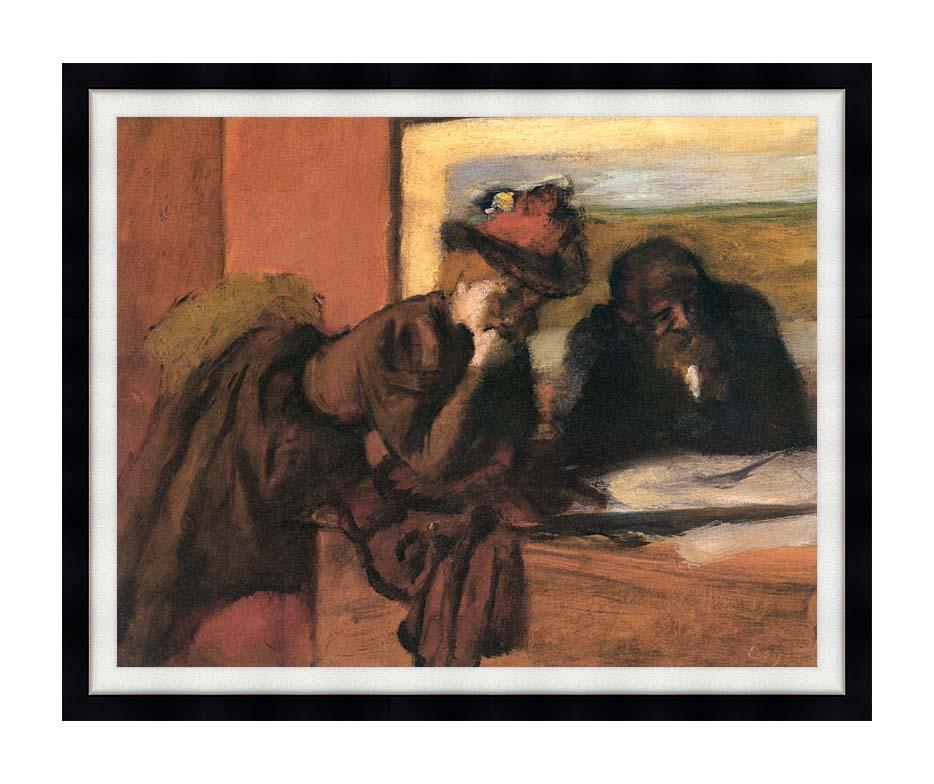 Edgar Degas The Conversation with Modern Black Frame